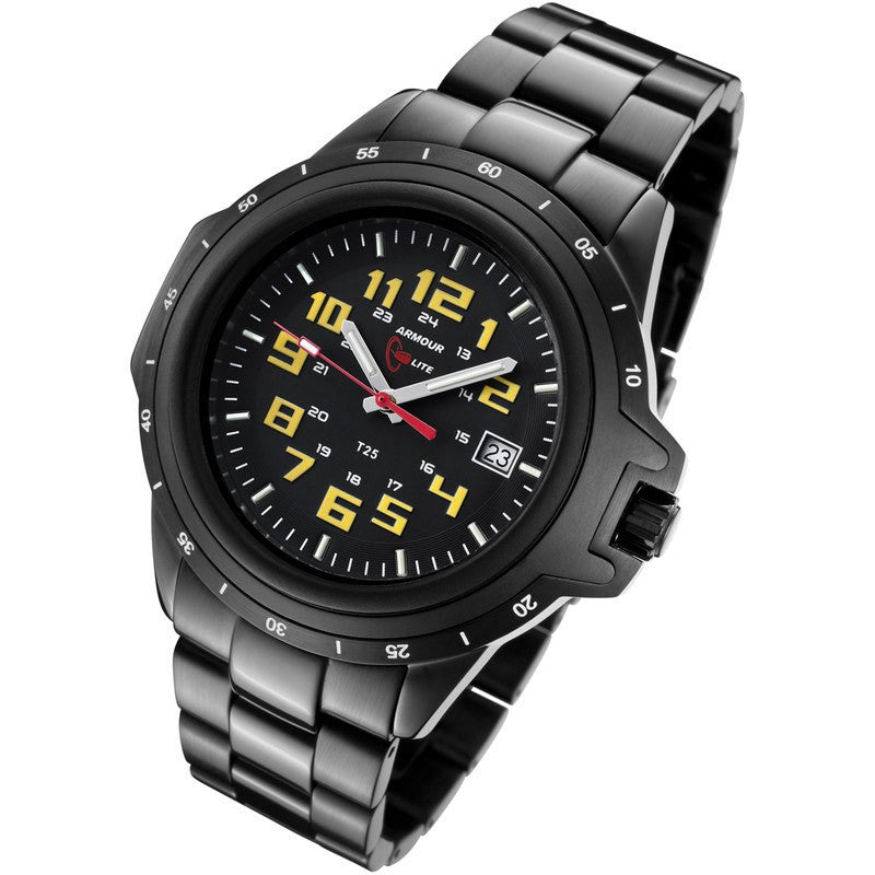 Armourlite ColorBurst Shatterproof Men's Watch Black-Yellow | Steel AL219