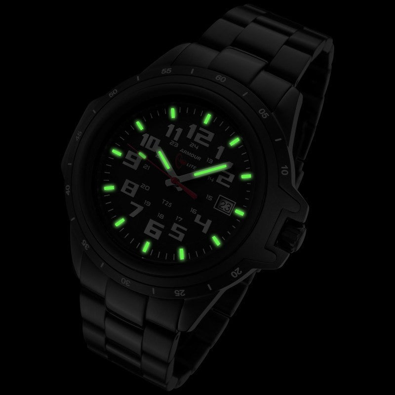 Armourlite ColorBurst Shatterproof Men's Watch Black-White | Steel AL220