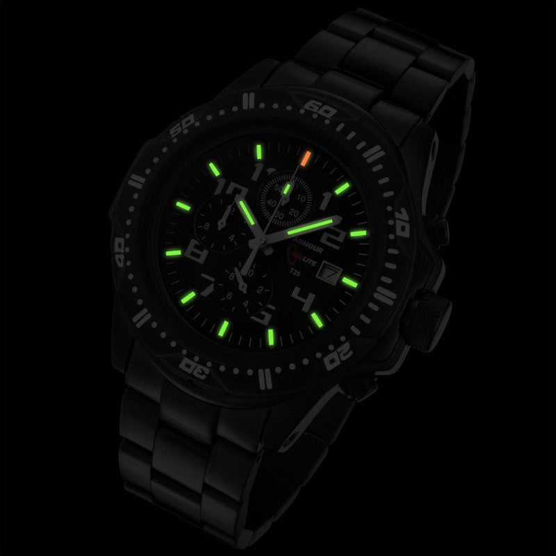 Armourlite Professional Shatterproof Chronograph Men's Watch Black-Green | Steel AL45