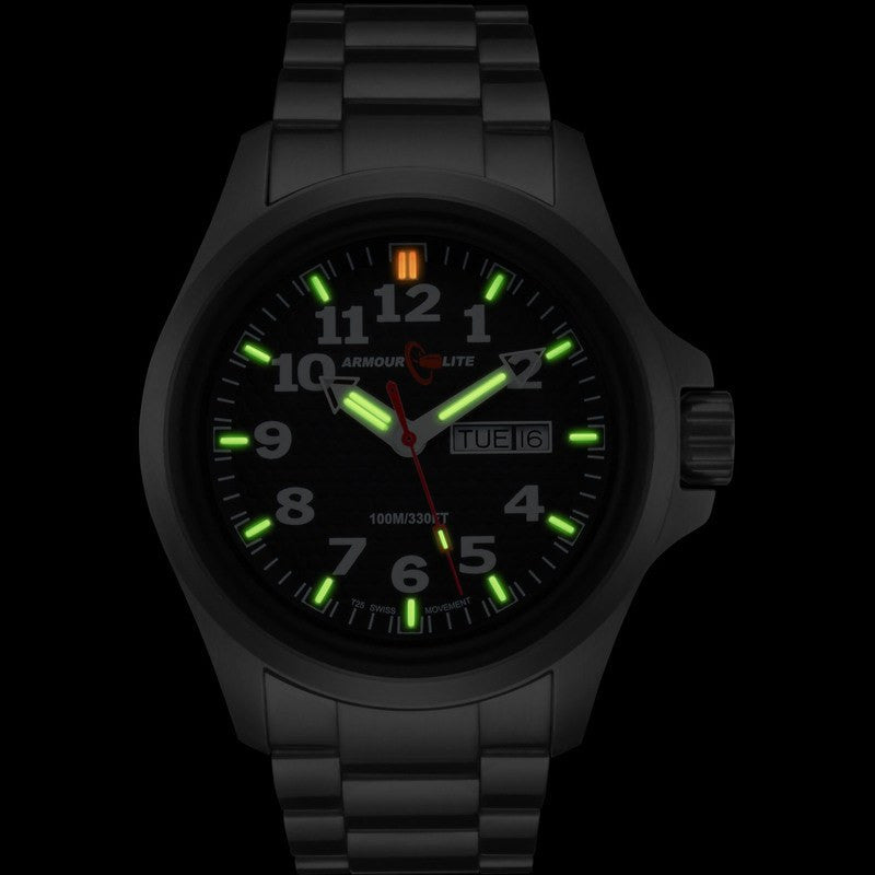 Armourlite Officer Series AL811 Men's Watch Black-Green | Steel