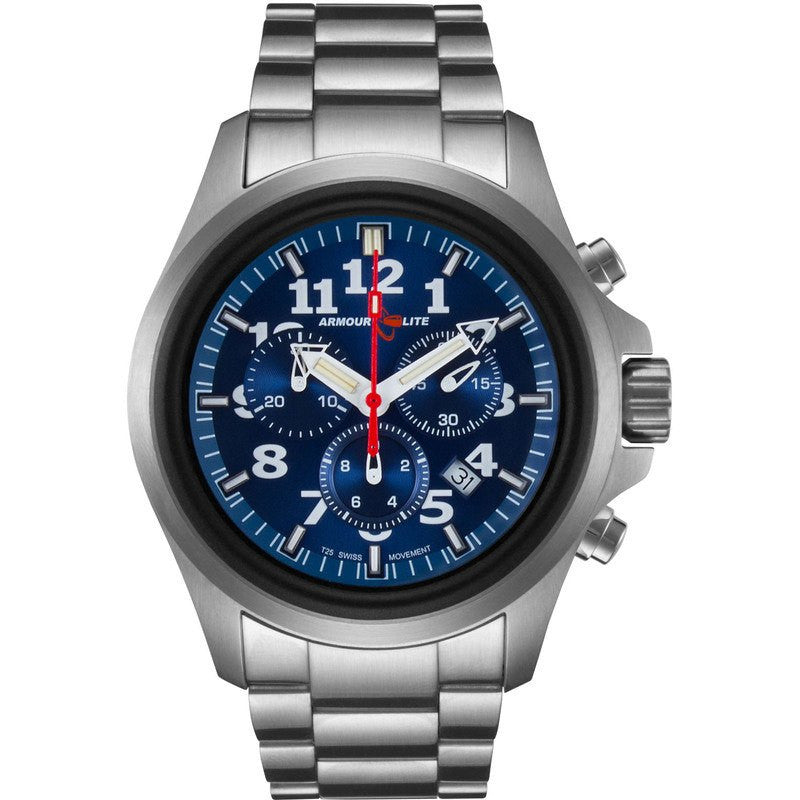 Armourlite Officer Series AL814 Mens' Chronograph Watch Blue-Blue | Steel
