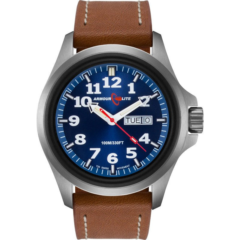 Armourlite Officer AL823 Blue Watch | Brown Leather