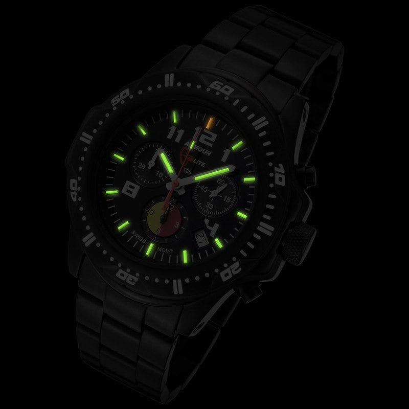 Armourlite Professional Shatterproof Chronograph Men's Watch Black-Green | Steel AL88