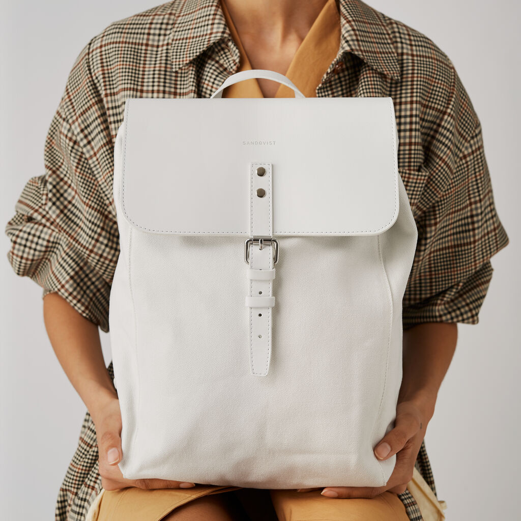 Sandqvist Alva Backpack | White SQA1072
