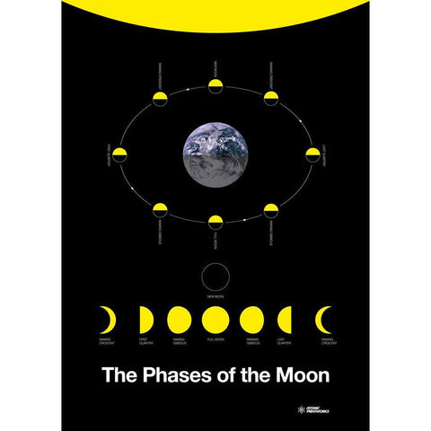 Atomic Printworks Educational Poster | The Phases of the Moon AP-04