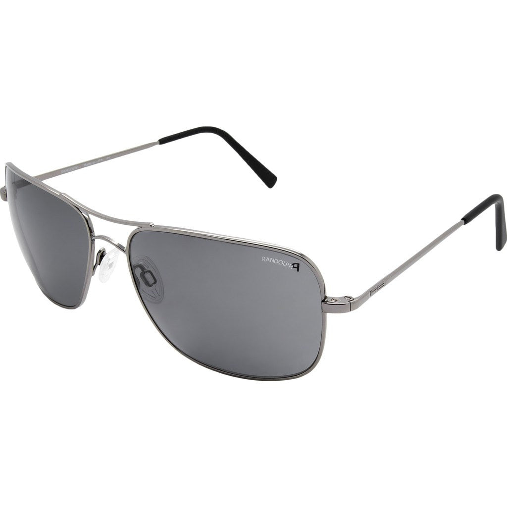 Randolph Engineering Archer Dark Ruthenium Polished Sunglasses | Gray Polarized PC Skull 59MM ARTF434-PC/63MM AR3F434-PC
