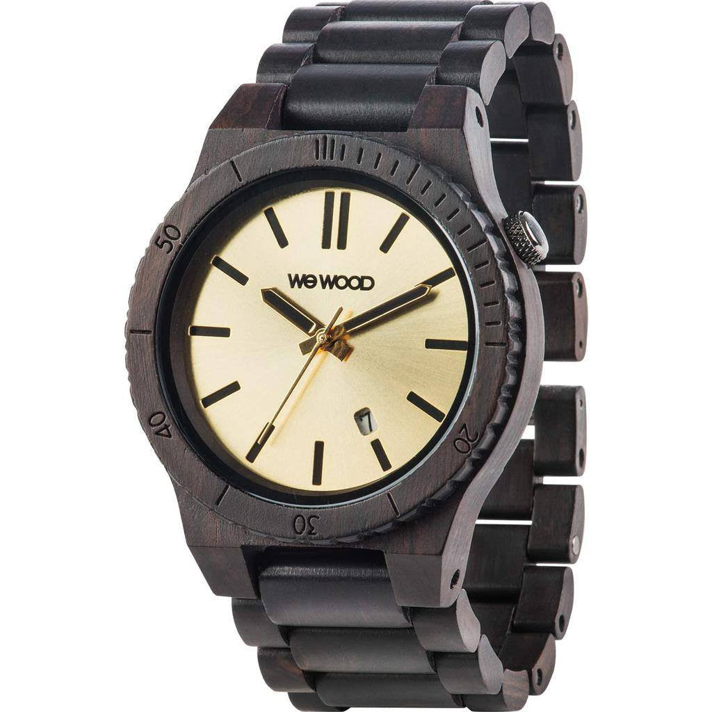 WeWood Arrow African Blackwood Wood Watch | Black/Gold WARRBG