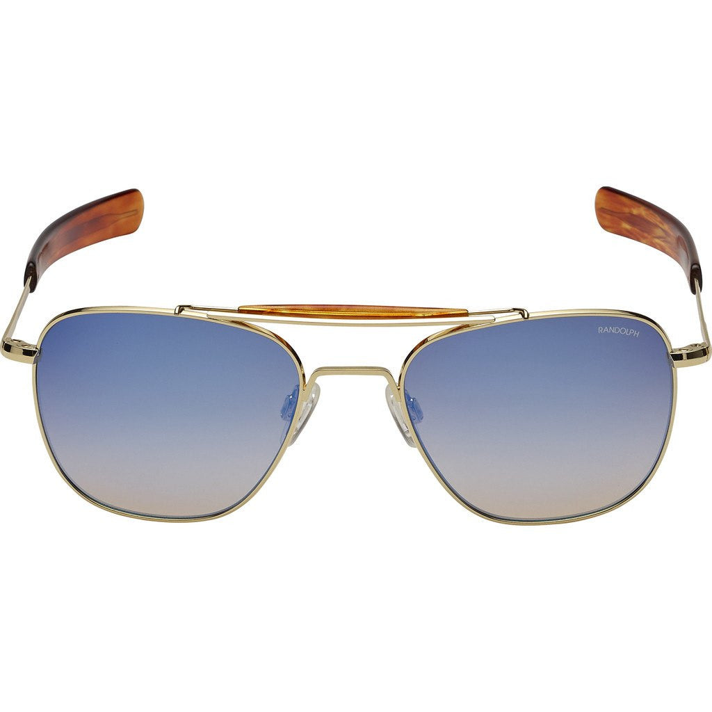 0e3bbbbe011 Randolph Engineering Aviator II 23K Gold Sunglasses Oasis Metallic ...
