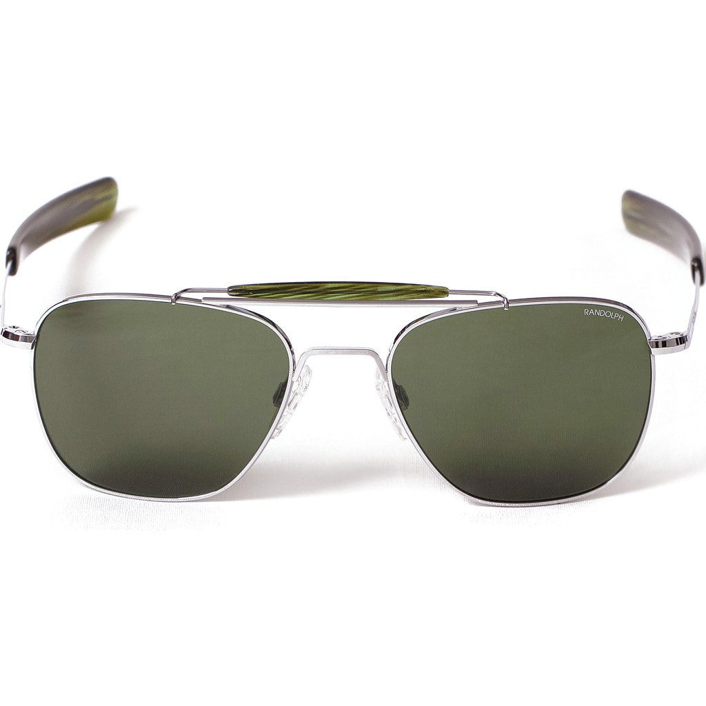 Randolph Engineering Aviator II Bright Chrome Sunglasses | AGX Glass Bayonet 55MM AT53614