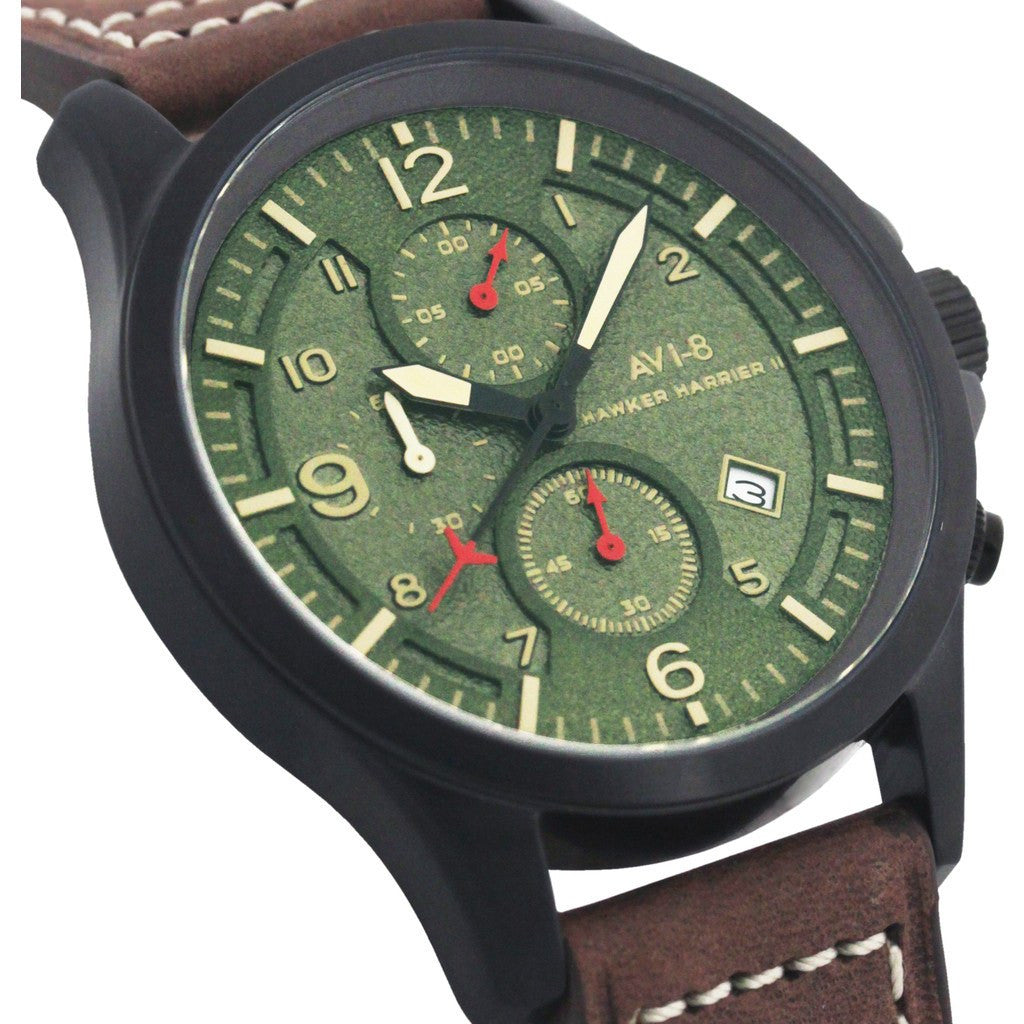 AVI-8 Hawker Harrier II AV-4001-04 Chronograph Watch | Brown AV-4001-04