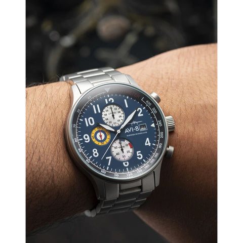 AVI-8 Hawker Hurricane 4011-33 Watch | Blue/Stainless