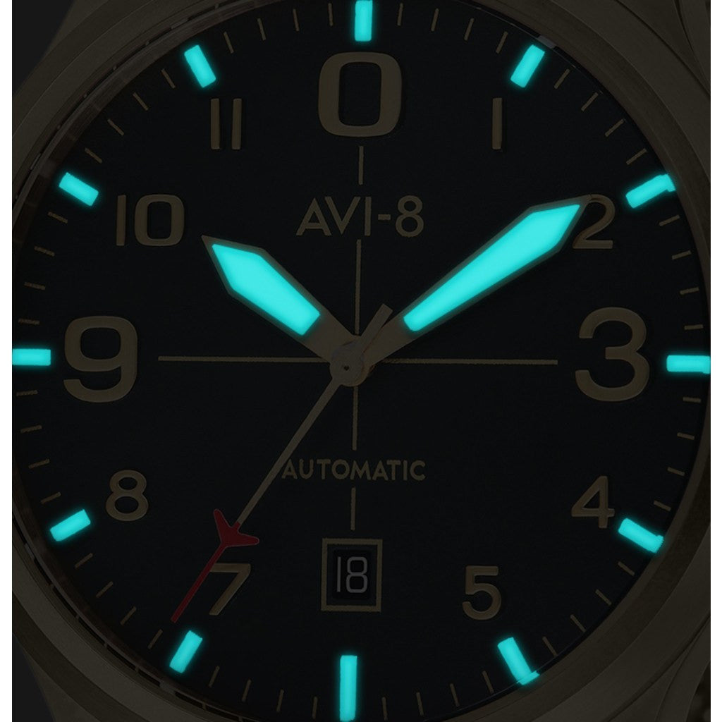 AVI-8 Flyboy AV-4021-33 Automatic Watch | Gold Mesh AV-4021-33
