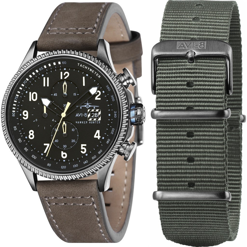 AVI-8 Hawker Hunter AV-4036-07 Chronograph Watch | Brown AV-4036-07