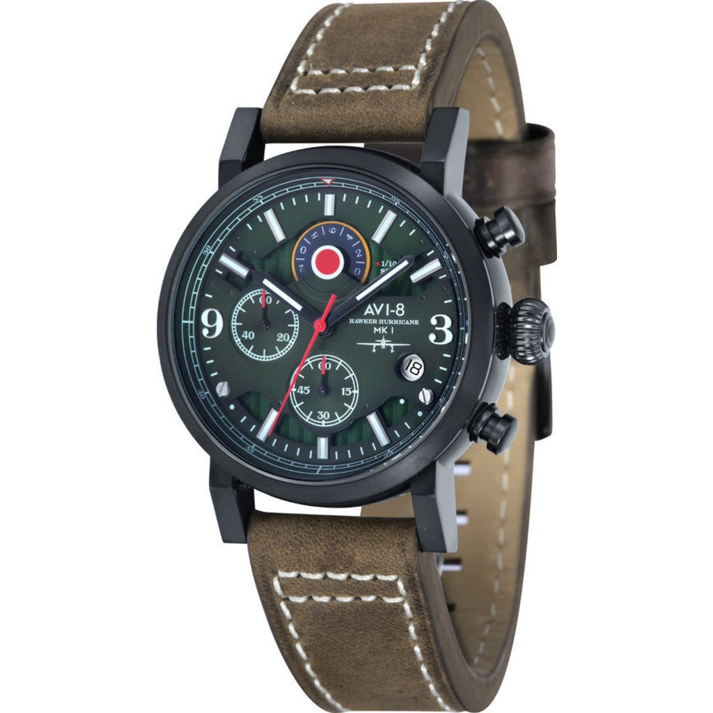 AVI-8 Hawker Hurricane AV-4041-04 Chronograph Watch | Brown AV-4041-04