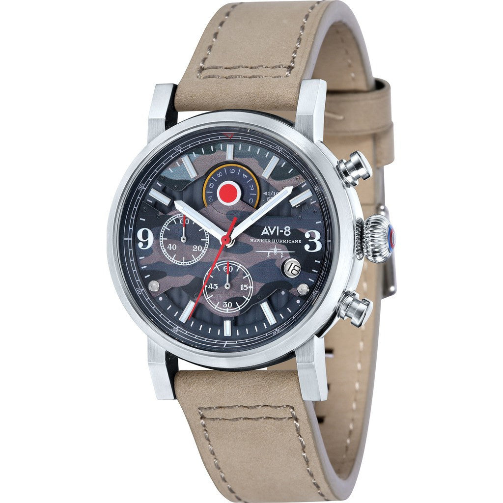AVI-8 Hawker Hurricane AV-4041-05 Chronograph Watch | Beige AV-4041-05