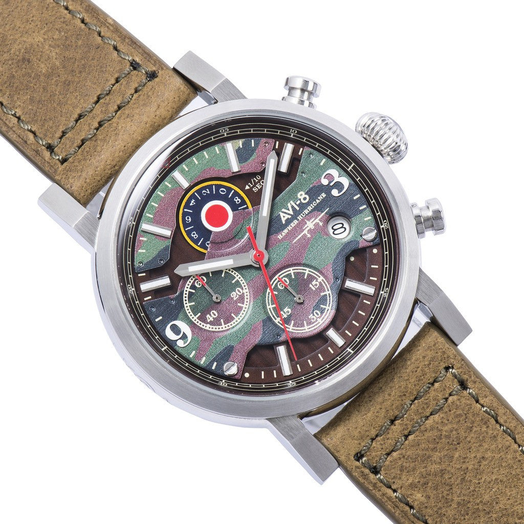 AVI-8 Hawker Hurricane AV-4041-06 Chronograph Watch | Brown AV-4041-06