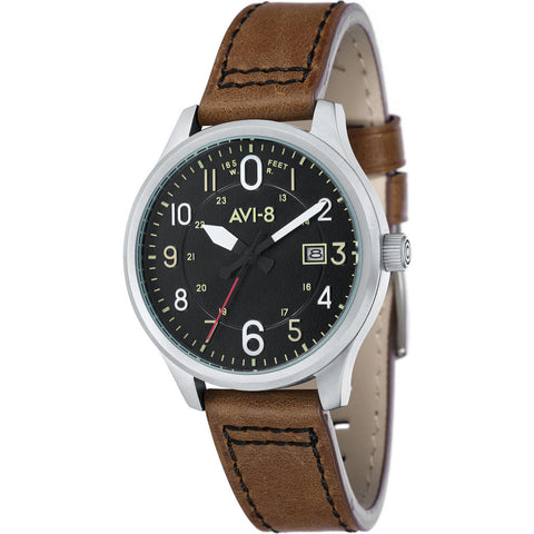 AVI-8 Hawker Hurricane AV-4053 Military Analog Watch | Leather Strap color-Green/Green