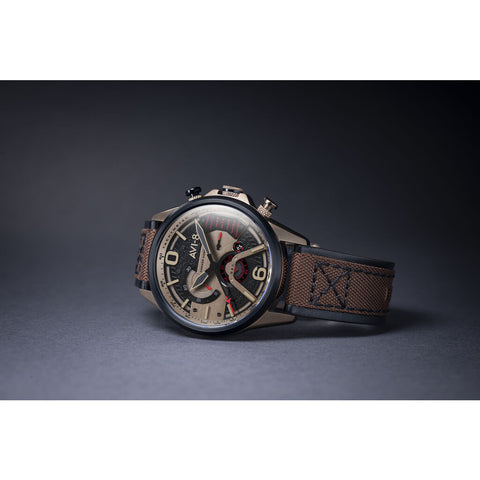 AVI-8 Hawker Harrier II AV-4056 Chronograph Watch | Leather Strap with Nylon