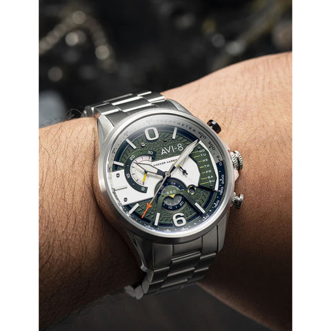 AVI-8 Hawker Harrier 4056-11 Watch | Green/Stainless