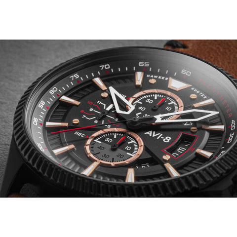 AVI-8 Hawker Hunter AV-4064 Avon Chronograph Watch | Leather Strap