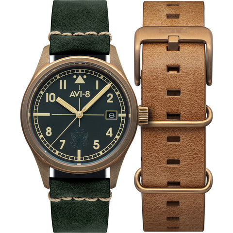 AVI-8 Flyboy Eagle Squadron 4071-03 Automatic Watch | Bronze