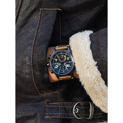 AVI-8 Hawker Hunter 4080-04 Watch | Black/Brown