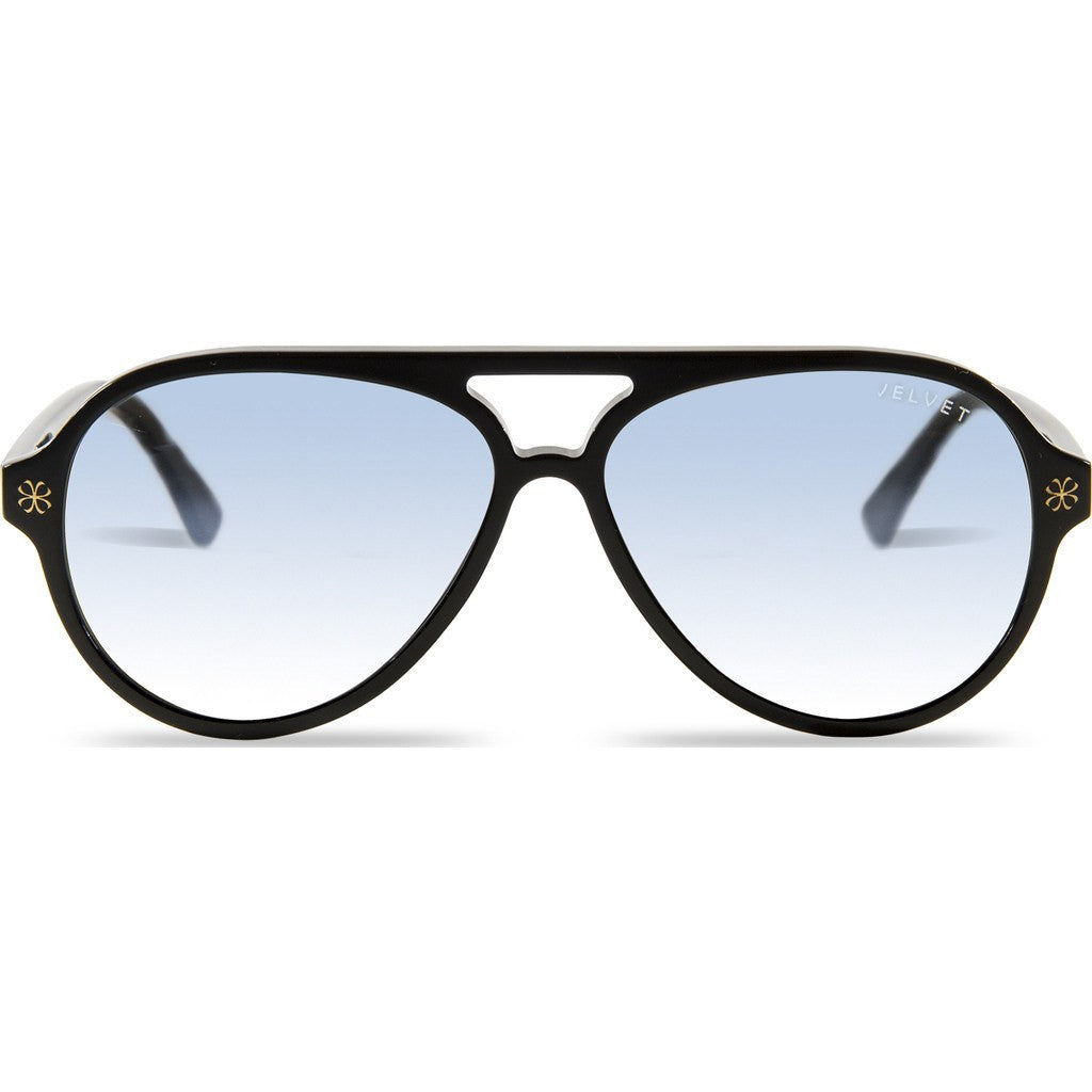 Velvet Eyewear Ava Black Sunglasses | Blue Flash V015BK06