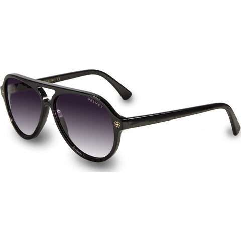 Velvet Eyewear Ava Black Sunglasses | Grey Fade V015BK05