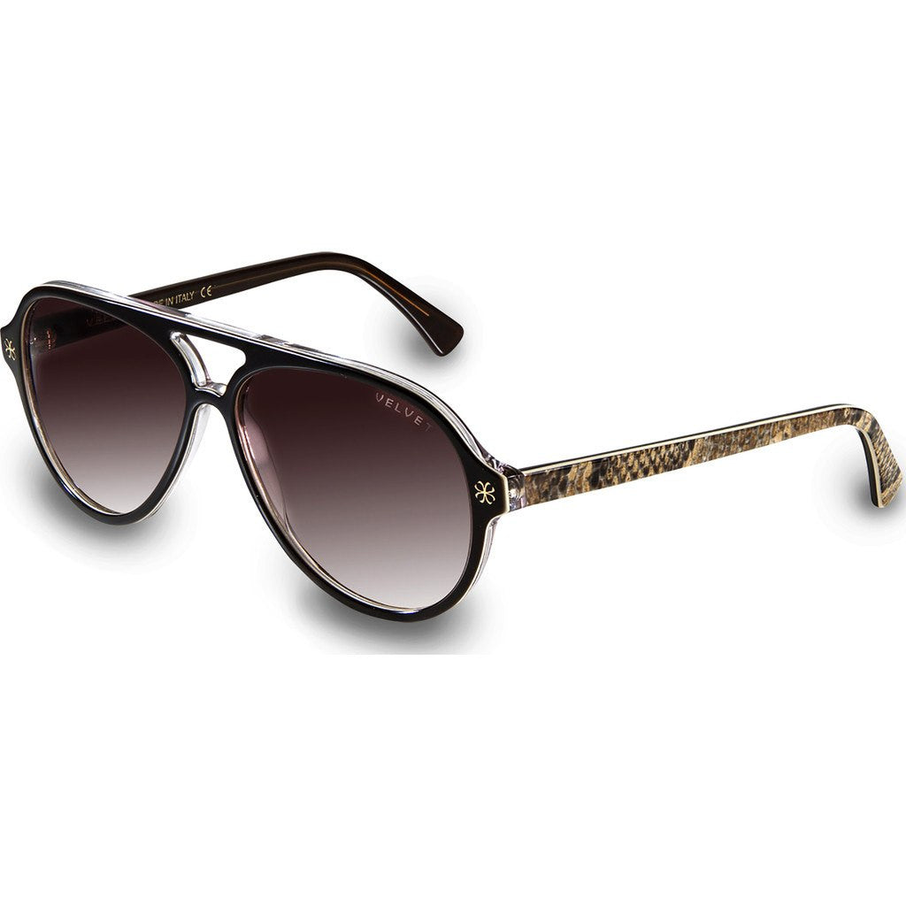 Velvet Eyewear Ava Dark Boa Sunglasses | Brown Fade V015DB01