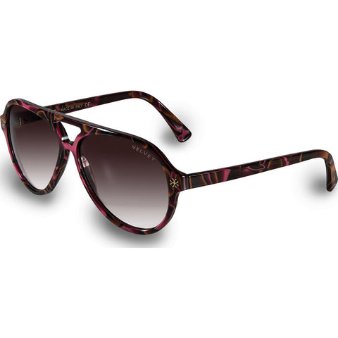 Velvet Eyewear Ava Red Lava Sunglasses | Brown Fade V015RL01