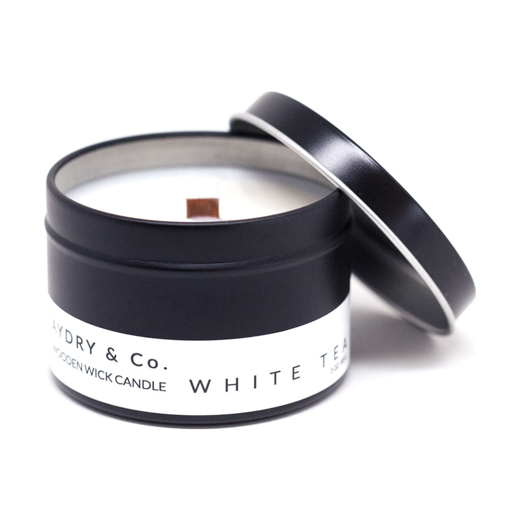 AYDRY & Co. Wooden Wick Candle | White Tea 3 oz