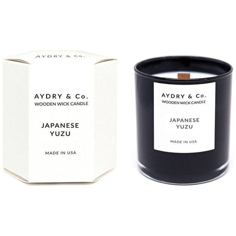 AYDRY & Co. Wooden Wick Candle | Japanese Yuzu