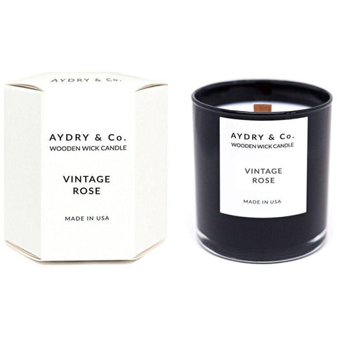 AYDRY & Co. Wooden Wick Candle | Vintage Rose