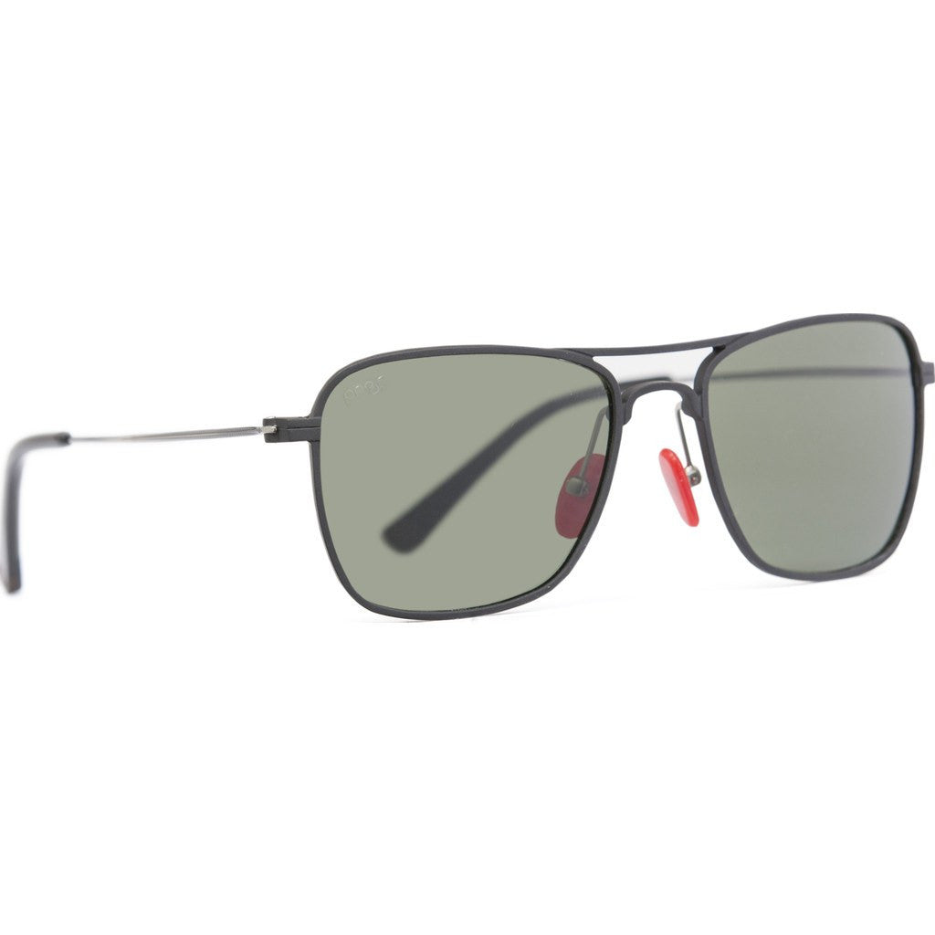 Proof Overland Aluminum Sunglasses | Matte Black/Green Polarized ovdmblkgrnpol