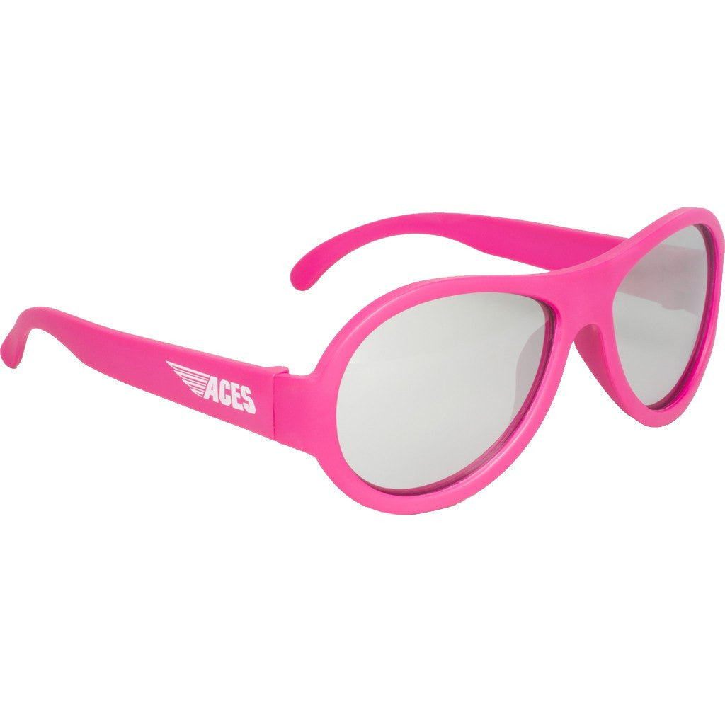 Babiators Aces Aviator Popstar Pink Sunglasses | Mirrored Ages 7-14