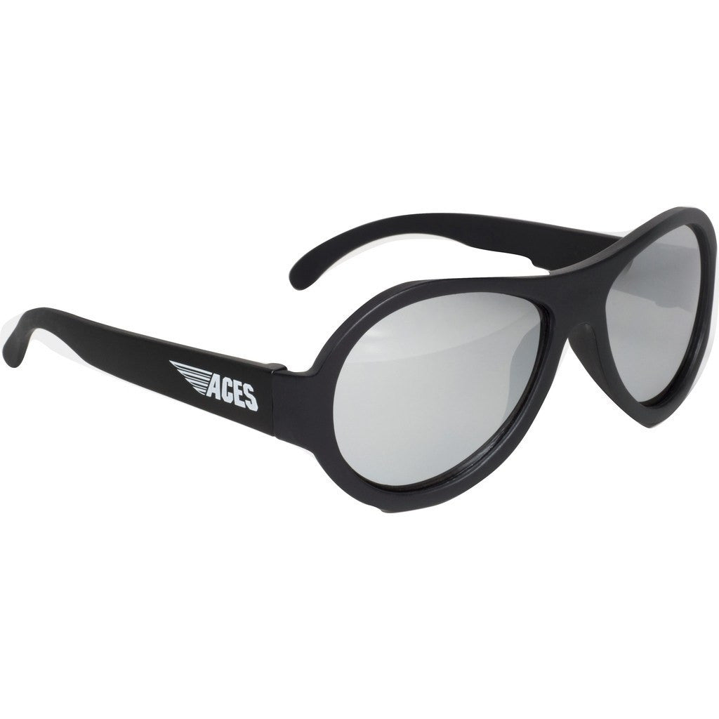 Babiators Aces Aviator Black Ops Sunglasses | Mirrored Ages 7-14