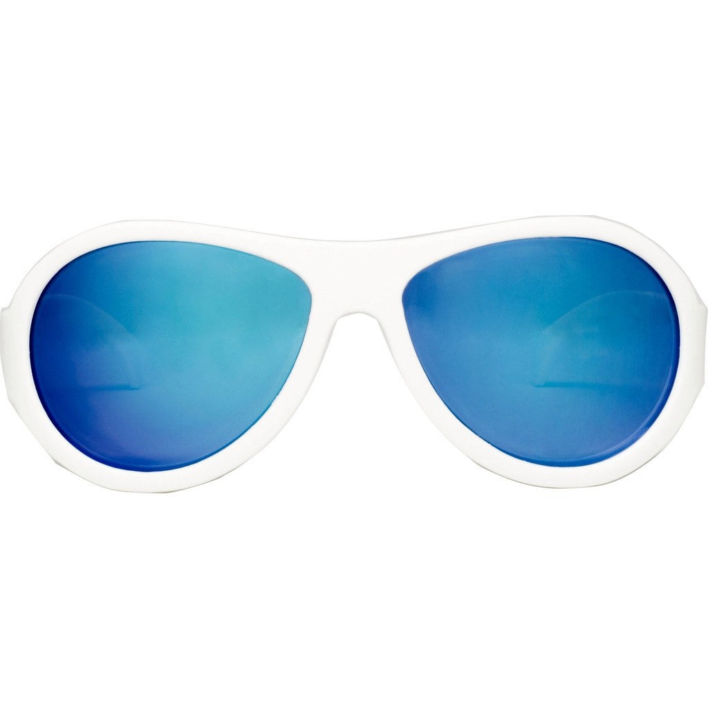 Babiators Aces Aviator Wicked White Sunglasses | Blue Ages 7-14