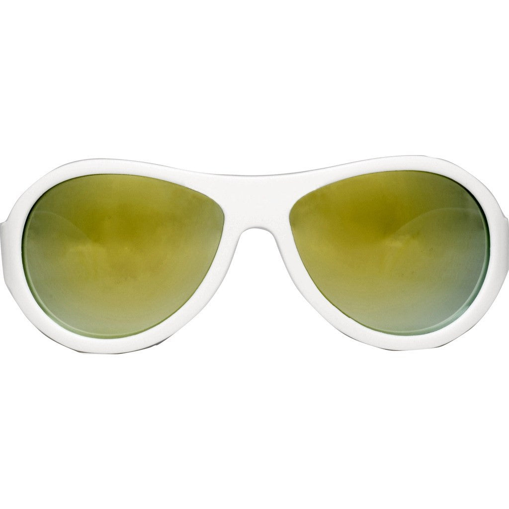 Babiators Aces Aviator Wicked White Sunglasses | Orange Ages 7-14
