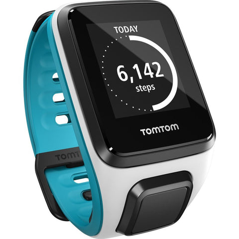 TomTom Spark Music Small Watch | White/Scuba Blue 1REM.002.08