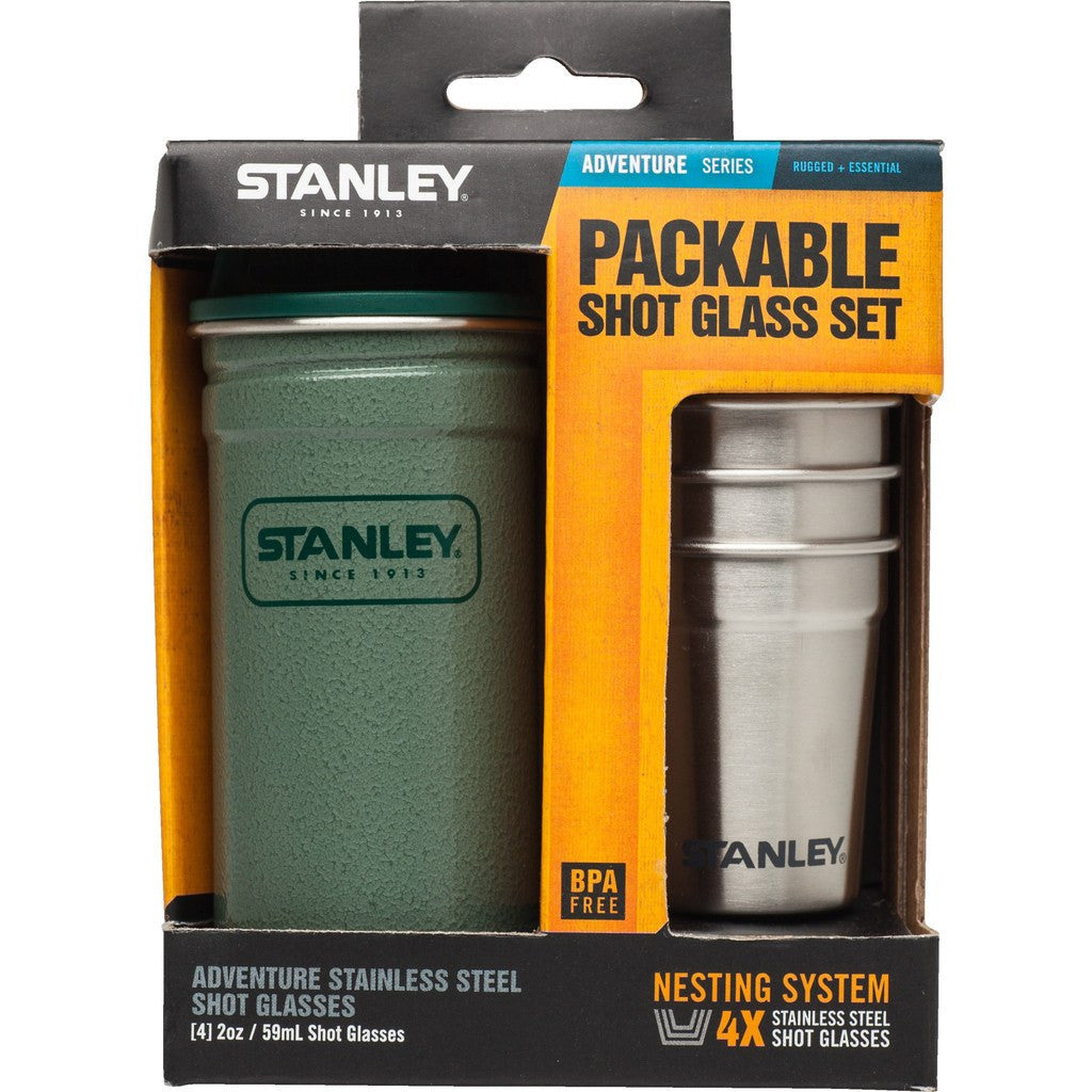 Stanley Adventure SS Shot Glass Set | Hammertone Green 10-01705-001