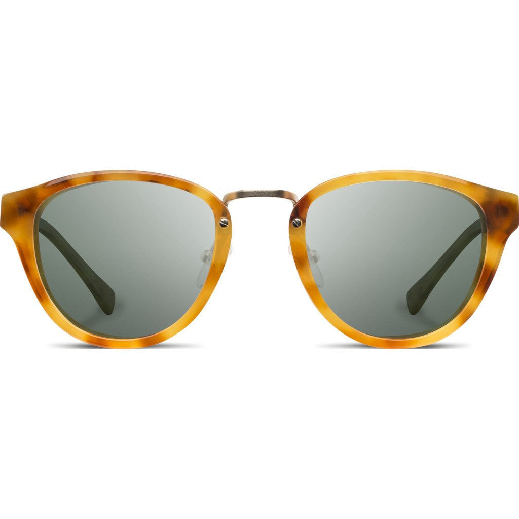 Shwood Ainsworth Acetate Sunglasses | Amber & Matte Gold / G15 Polarized WAAAFP