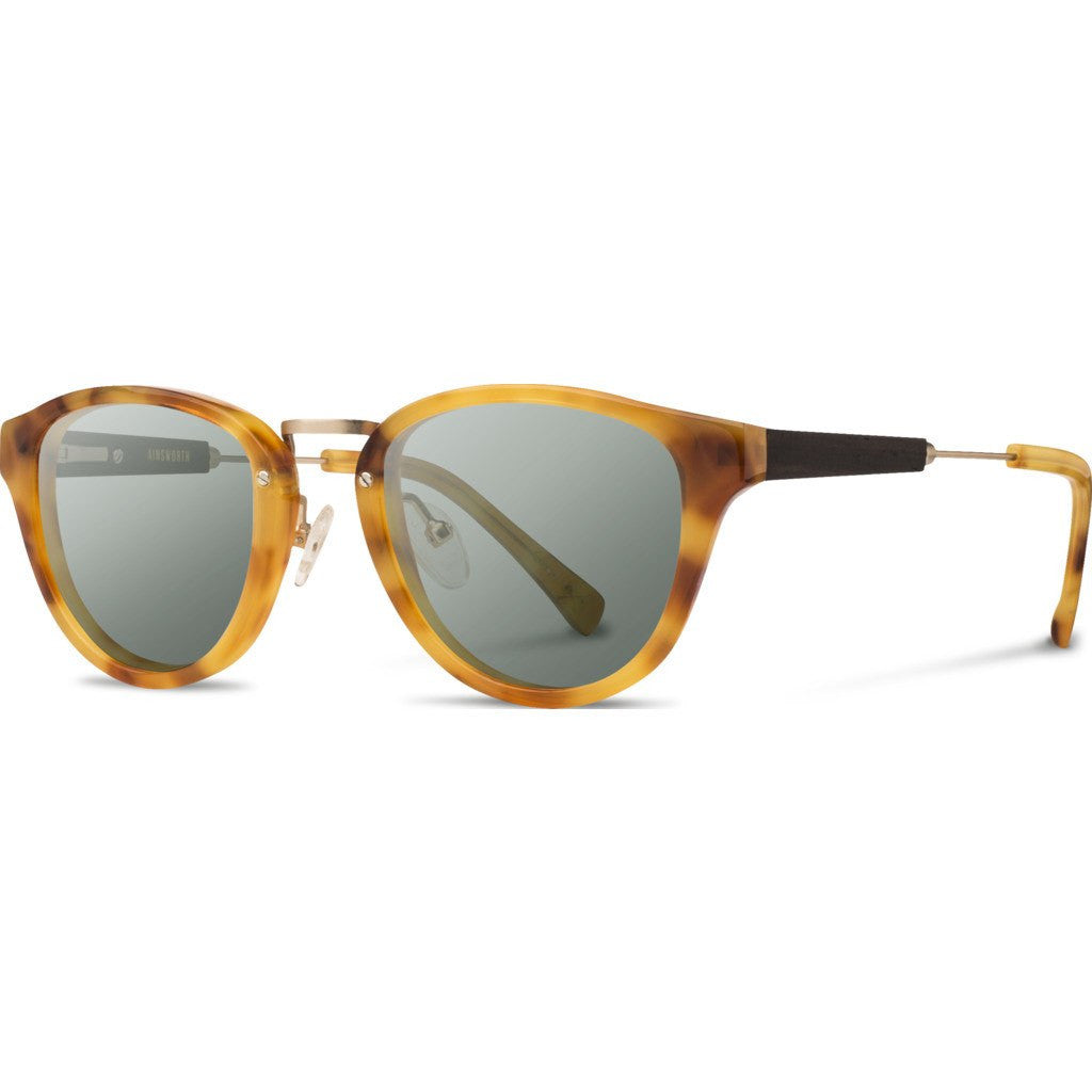 Shwood Ainsworth Acetate Sunglasses | Amber & Matte Gold / G15 WAAAF