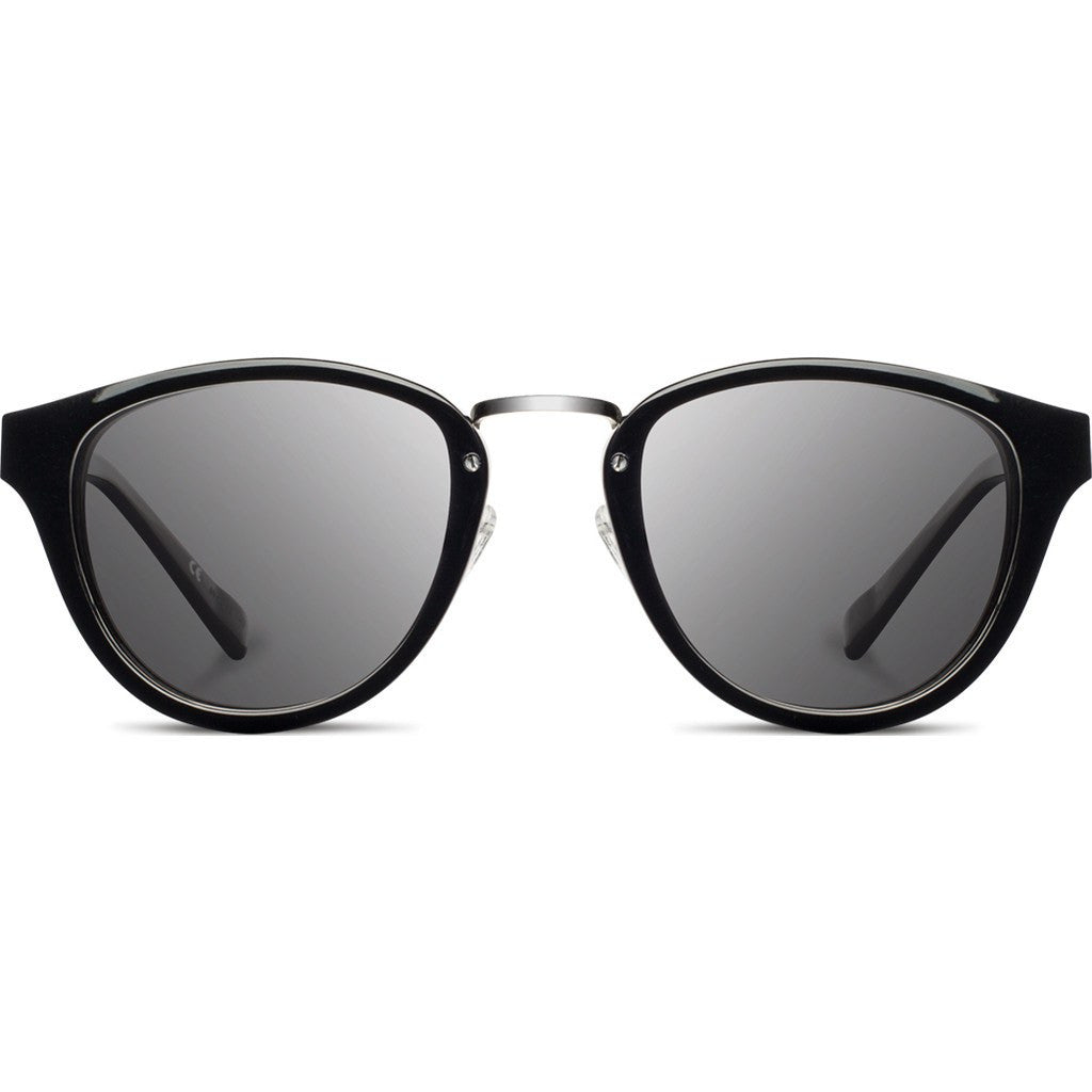 Shwood Ainsworth Acetate Sunglasses | Black & Silver / Grey Polarized WAABSGP