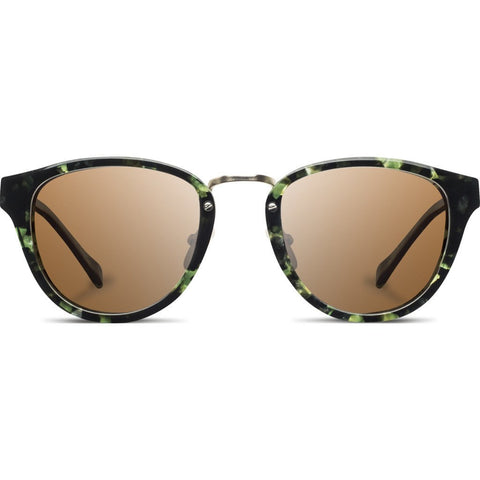 Shwood Ainsworth Acetate Sunglasses | Dark Forest & Matte Gold / Brown Polarized WAADFBP