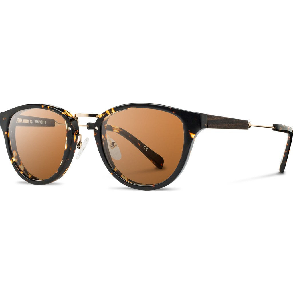 Shwood Ainsworth Acetate Sunglasses | Dark Speckle & Gold / Brown Polarized WAADSBP