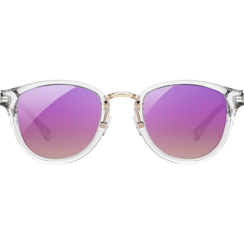 Shwood Ainsworth Acetate Sunglasses | Crystal & Gold - Rose Flash Polarized WAAC2R3P