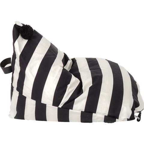 Wild Design Lab Alden Bean Bag Chair Cover | Black/White Stripes BBCAB