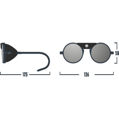 Izipizi Glacier Plus Sunglasses | Black with Black Shields