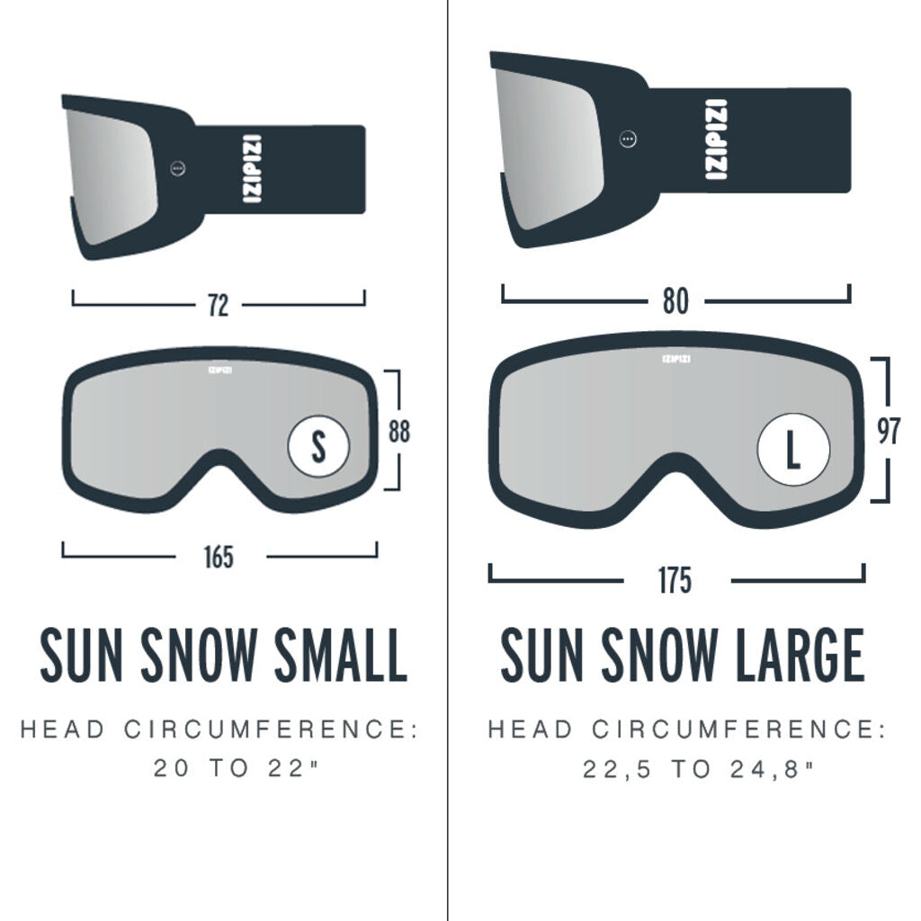 Izipizi Sun Snow Cat .2 All Weather Ski/Snowboard Goggles  | Black