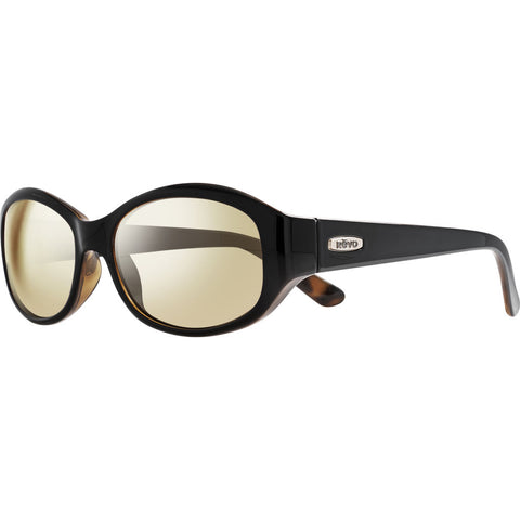 Rēvo Eyewear Allana Black/Honey Tortoise Sunglasses | Champagne